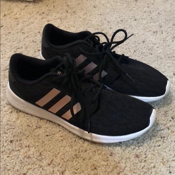 Adidas Shoes Black And Rose Gold Tennis Poshmark